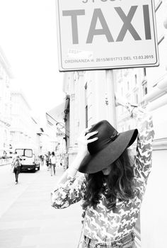 A big floppy hat, undeniably chic. http://www.thecoveteur.com/eleonora-carisi-luisaviaroma/