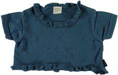 Jottum good condition Rembrandt logo blue knitted top 92 2 Y