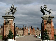 Hampton Court Palace England.   Henry VII's Palace.  Beautiful gardens as well.