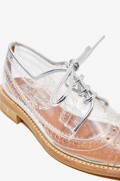 bfd04d4d5c7e70 Jeffrey Campbell Townsend Transparent Oxford - Shoes