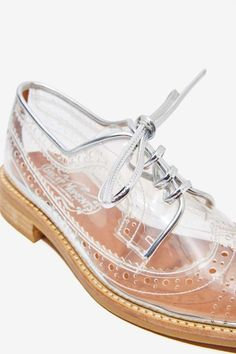 Jeffrey Campbell Townsend Transparent Oxford - Shoes | Oxfords | Jeffrey Campbell