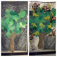 Trees for a jungle/safari themed classroom!