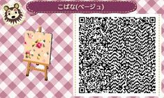 ACNL/ACNL QR CODE-Floral Wall, Fabric