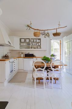 The kitchen - (different view of) at 'Jennys home and harmony - Decorating with Feng Shui:'