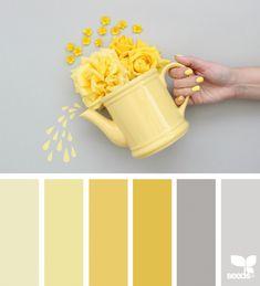 15 Ideas For Bedroom Colors Schemes Colour Palettes Design Seeds Rgb Palette, Color Schemes Colour Palettes, Yellow Color Schemes, Yellow Color Combinations, Colour Yellow, Colour Combinations Interior, Vintage Color Schemes, Interior Design Color Schemes, Yellow Paint Colors