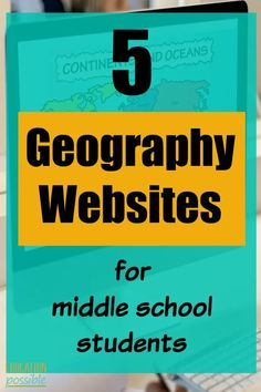A great way to make your geography lessons fun and engaging for your middle schooler, is to go online and add one of these geography websites into your homeschooling day. By studying geography, children get to know the countries and cultures of the world. Geography Lesson Plans, Geography Activities, Teaching Geography, Teaching History, Teaching Tools, History Education, Teaching Resources, Middle School Geography, Teaching Culture