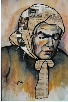 paintings on newspaper - Google Search
