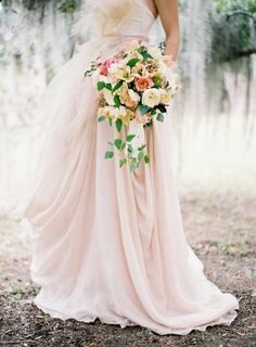 Pink Wedding Gown | photography by http://josevillablog.com/
