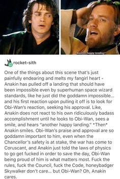 I'm crying. Anakin and Obi-Wan break my little heart into huge pieces.