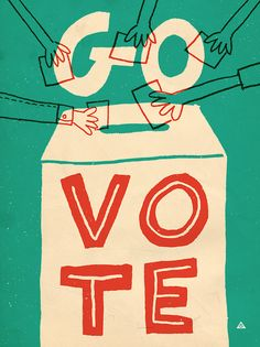 Everyones doing it Ballot Box artwork by Eric Comstock Find hundreds of GoVote Vota artwork at you can share to encourage your friends fam. Get Out The Vote, Rock The Vote, Political Posters, Political Art, Voting Posters, Political Junkie, Political Memes, Illustration Inspiration, Graphic Design Illustration