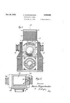 Google Patent - Camera 1935