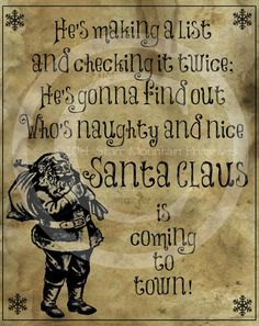 Primitive Santa Claus is coming to town Song by Starrmtnprims