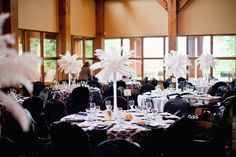 Table decor - Black and White Wedding