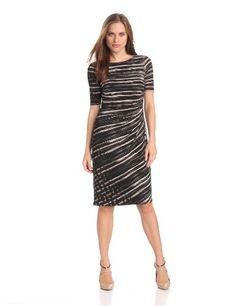 Anne Klein Women's Heather Side Pleated Dress - List price: $119.00 Price: $101.15