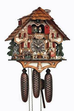 Cuckoo Clock | Chalet | Waitress | Beer Drinker | 8tmt 6414/9