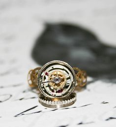 Steampunk Vintage Gear Ring  Handmade Ring by Take2GiveOneLove, $24.95