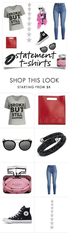 """Untitled #785"" by nene55 ❤ liked on Polyvore featuring Gucci, Prada, Swarovski, Converse and Elise Dray"