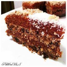 Raw Food Recipes, Dessert Recipes, Healthy Recipes, Vegan Cake, Raw Vegan, Deserts, Food And Drink, Sweets, Snacks