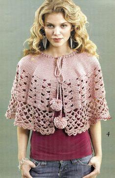 Poncho en rosa