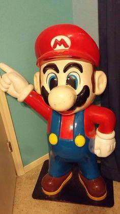 Vintage Mario Statue