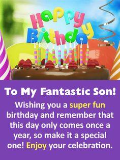 Happy Birthday Card For Son