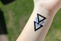 Cool triangle tattoo sticker!