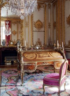 King Louis XV desk with secret drawers and nooks considered cutting edge in it's day. Desk from 18th Century.