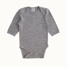 Organic Merino Long Sleeve Bodysuit | Nature Baby