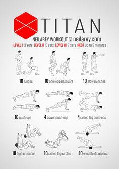 Destiny's Tital workout.