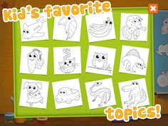 #Memollow #Coloring Pages contains beloved pictures to colour from Memollow #app for #kids