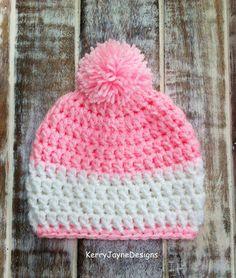 BABY CROCHET HAT Baby girl crochet hat Baby by KerryJayneDesigns, £10.99