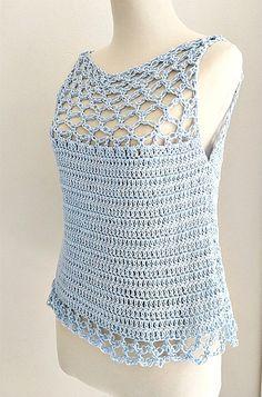 Crochet Waistcoat, Crochet Cardigan Pattern, Crochet Blouse, Knit Crochet, Crochet Patterns, Crochet T Shirts, Crochet Clothes, Diy Clothes, Black Crochet Dress