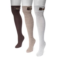 d0a4c2a31810d6 Women's Muk Luks Women's Over-the-Knee SocksNeutral Pack ($19) ❤ liked