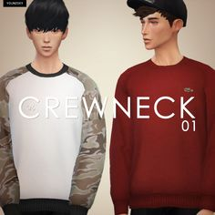Crewneck01 by Younzoey | Sims 4 Nexus