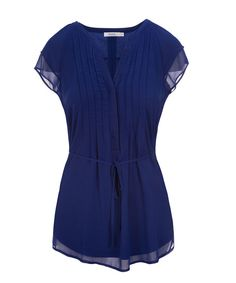 Flutter Sleeve Tunic, Royal Blue
