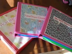 Start the school year off right with organized binders! Check out these ideas and tweak to fit your needs!