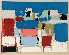 Nicolas de Stael - Abstract Art - Mediterranee, 1952, pochoir.