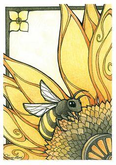 Art Deco Bee by Kiri Moth