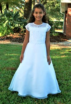 Sarah Louise Style 090036 Beaded Organza First Communion Dress