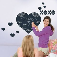Chalkboard Heart Wallcandy - eclectic - decals - Rosenberry Rooms