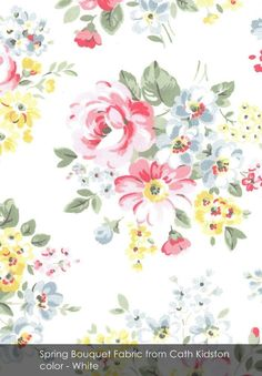 Spring Bouquet fabric from Cath Kidston in White