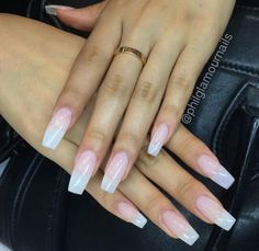 Clear, natural looking acrylic nails. Ig- @philglamournails