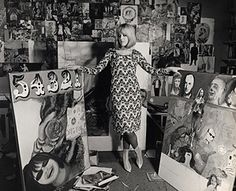 Pauline Boty: Pauline Boty in her studio in September 1963