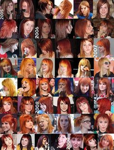 Hayley Williams paramore hair timeline by raychylle, via Flickr