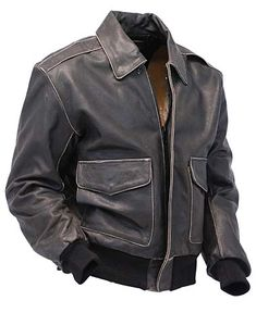 Vintage Brown Leather A2 Bomber Jacket