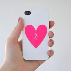 DIY iPhone Cases-i like this but without the letter in the middle