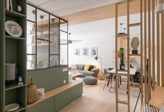 Un appartement totalement transformé à Lyon – PLANETE DECO a homes world An apartment totally transformed in Lyon – PLANETE Apartment Interior, Interior Design Living Room, Appartement Design, Home Renovation, Home And Living, Small Spaces, Room Decor, Decor Diy, Decor Ideas