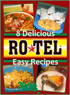 7 Rotel Recipes I love having rotel tomatoes on hand (actually, I'm in a panic if I do not have one or two jars in my pantry, just in case!) And this Rotel recipe … Mexican Dishes, Mexican Food Recipes, Appetizer Recipes, Dinner Recipes, Appetizers, Dinner Ideas, Sauces, Great Recipes, Favorite Recipes
