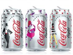 marc jacobs - creative director of diet coke 2013.To celebrate the world's #1 selling soft drink's 30th anniversary, the fashion designer has developed a series of limited edition cans and bottles with graphics influenced by the rise of female