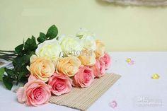 Neue Ankunft Mischte Farbe Dekorative Bunten Kunststoff Getrocknet Handwerk Rose Blumen Aus Autorisierten